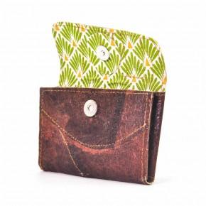 Porte monnaie cuir végétal peau de chouchou