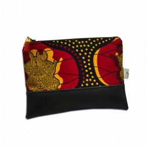 Pochette Binetta en Wax - Totem Rouge