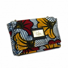 Mini-sac en Wax - Fleur de mariage