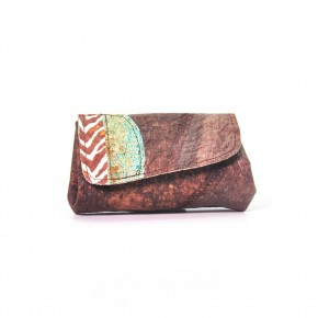 Porte monnaie double - cuir végétal peau de chouchou