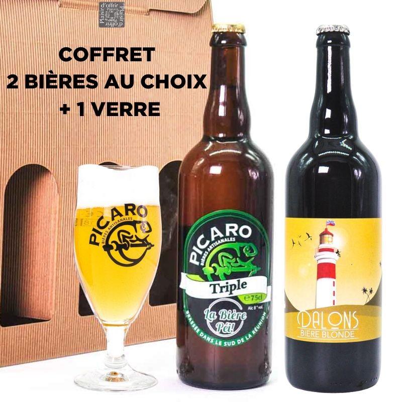 Coffret cadeau 2 bières + 1 verre - Picaro Dalons 3 Brasseurs Yab