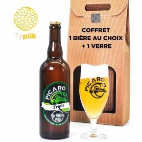 Coffret cadeau 1 bière + 1 verre