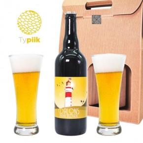 Coffret cadeau 1 bière + 2 verres - Dalons