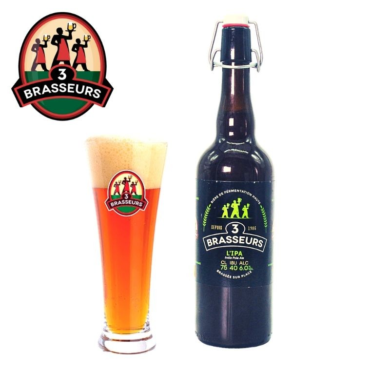 Bière IPA 3 Brasseurs 75cl