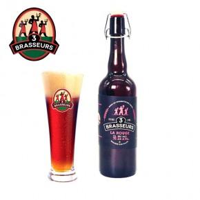 Bière Rouge 3 Brasseurs 75cl