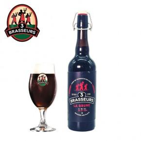 Bière Brune 3 Brasseurs 75cl