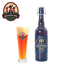 Bière Ambrée 3 Brasseurs 75cl