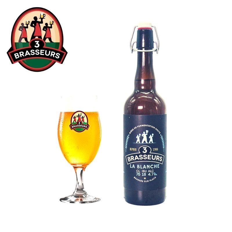 Bière Blanche 3 Brasseurs 75cl