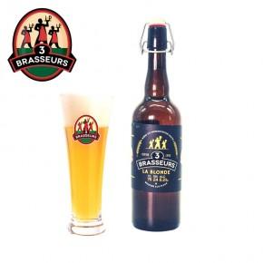 Bière Blonde 3 Brasseurs 75cl