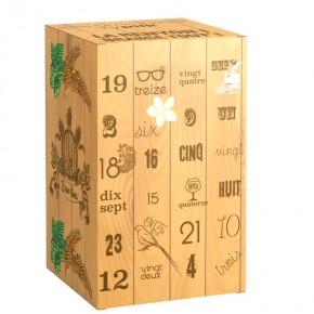 Box découverte caisse bois - Calendrier de l'avent 24 bières Péi - Typiik.com