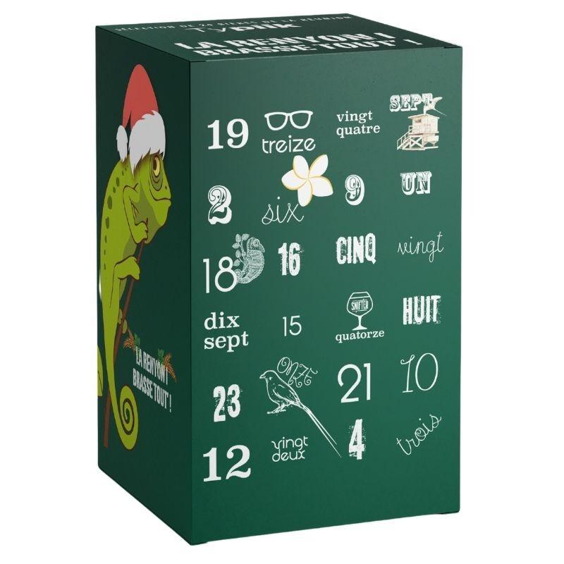 Box découverte endormi vert - Calendrier de l'avent 24 bières Péi - Typiik.com