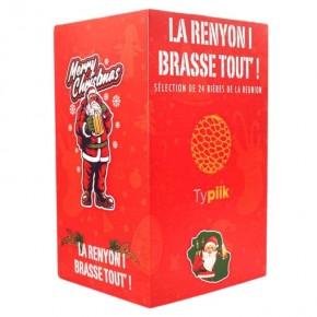 Box découverte noel rouge - Calendrier de l'avent 24 bières Péi - Typiik.com