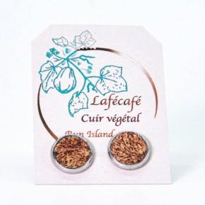 Boucles d'oreilles artisanales de La Réunion - Lafécafé - coloris chocolat