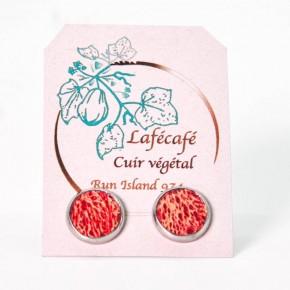Boucles d'oreilles artisanales de La Réunion - Lafécafé - coloris Rouge