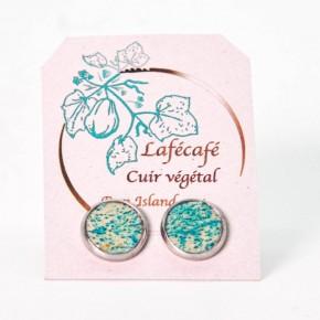 Boucles d'oreilles artisanales de La Réunion - Lafécafé - coloris Bleu Lagon