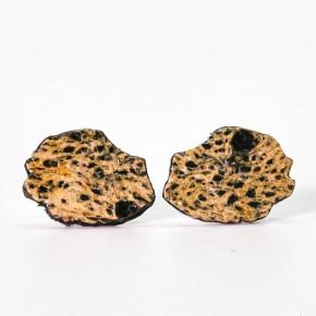 Boucles d'oreilles artisanales carte de La Réunion - Lafécafé - coloris noir